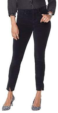 NYDJ Ami Skinny Velvet Legging with Side Seam -Black