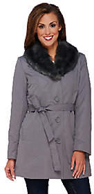 Dennis Basso Coat with Removable Faux FurCollar & Liner
