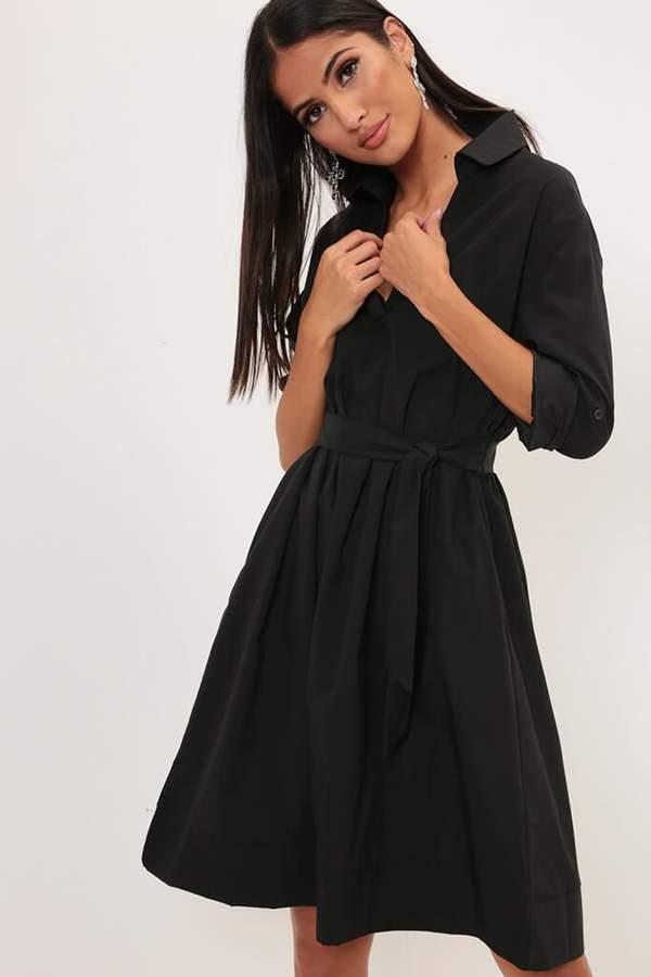 Isawitfirst Khaki Midi Length Shirt Dress