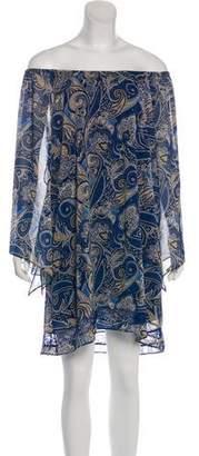 Alice + Olivia Paisley Printed Mini Dress