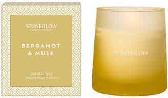 STONE GLOW ジオメトリック グラス入りキャンドル ベルガモット&ムスク