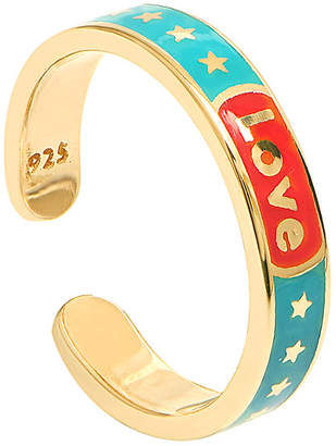 GABIRIELLE JEWELRY 22K Over Silver Enamel Ring