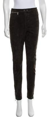 3.1 Phillip Lim High-Rise Skinny Suede Pants