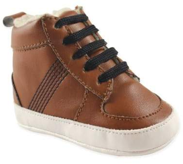 Buy Size 6-12M High Top Boat Shoe in Brown!