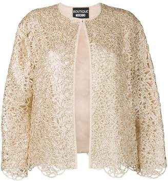 Moschino lace detail jacket