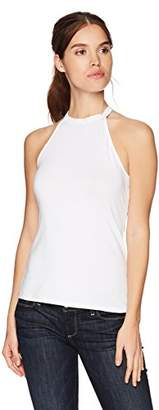 GUESS Women's Sleeveless Elyza Mock Neck Top