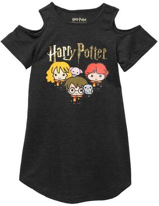 Intimo Harry Potter Chibi Cold Shoulder Nightgown (Little Girls & Big Girls)