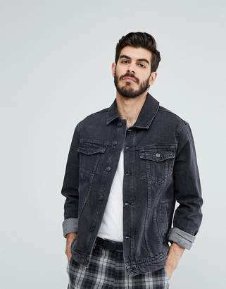 Kiomi Denim Jacket In Washed Black