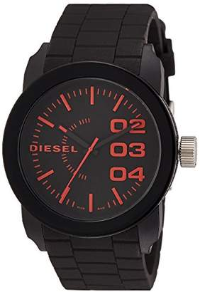 Diesel Men's 'Double Down' Quartz Stainless Steel and Silicone Casual Watch