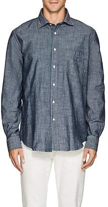 Hartford Men's Cotton Chambray Shirt - Dk. Blue