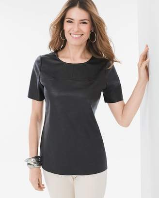 Faux-Leather Tee