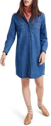 Madewell Puff Sleeve Denim Shirtdress