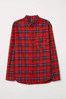 H&M Plaid Cotton Flannel Shirt - Red
