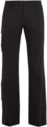 Wales Bonner Cargo patch-pocket detail wool-blend trousers