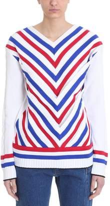 Y/Project Striped V-neck Jumper