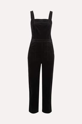J.Crew Cotton-blend Velvet Jumpsuit - Black