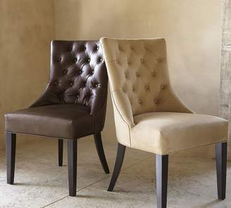 Pottery Barn Hayes Tufted Leather Dining Chair