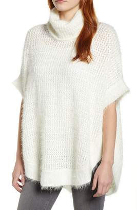 Caslon Eyelash Knit Poncho Sweater