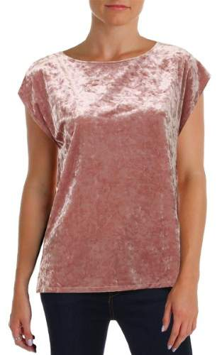 Vince Camuto Womens Petites Knit Extended Shoulder Pullover Top