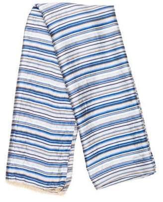 Gerard Darel Silk Stripe Shawl