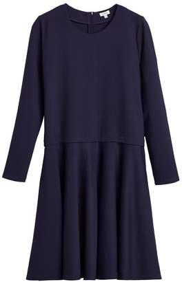 Ponte Long Sleeve Dress