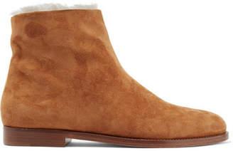 Mansur Gavriel Suede Ankle Boots - Camel