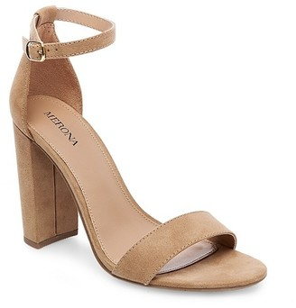Merona Women's Lulu Wide Width High Block Heel Sandal Pumps with Ankle Straps $29.99 thestylecure.com