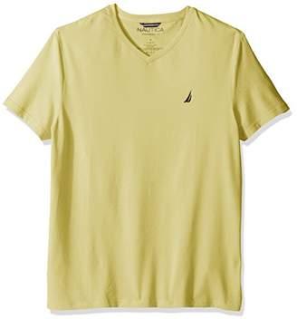 Nautica Men's Short Sleeve V-Neck Solid T-Shirt X