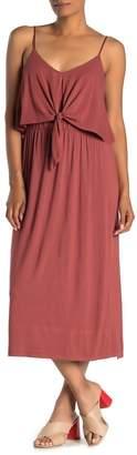 ALL IN FAVOR Tie Front Cami Midi Dress