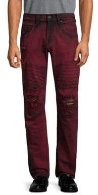 True Religion Moto Skinny Run-Stitch Jeans