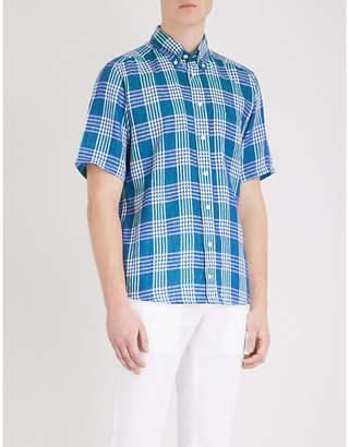 Eton Checked slim-fit linen shirt