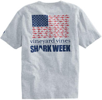Vineyard Vines Mens Shark Week Sharks & Stripes T-Shirt