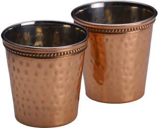 Mikasa Set of 2 Hammered Copper Shot Glasses