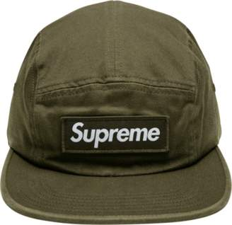 Supreme Washed Chino Twill Camp Cap - 'FW 18' - Moss