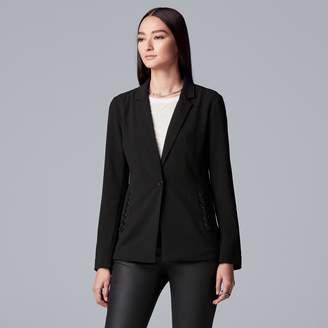 Vera Wang Women's Simply Vera Lace-Up Blazer
