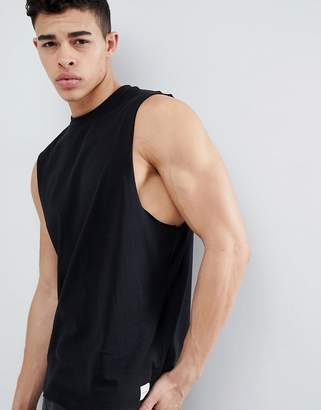 ONLY & SONS Black Tank With Dropped Armholes