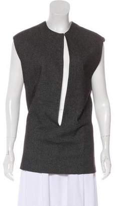 A Détacher Wool Sleeveless Top