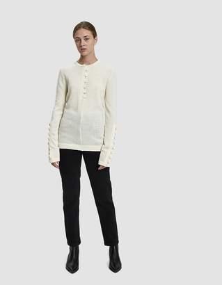 Jil Sander Buttoned Long-Sleeve Sweater