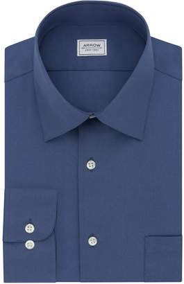 Arrow Men's Athletic-Fit Solid Wrinkle-Free Spread-Collar Dress Shirt