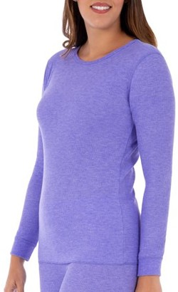 Fruit of the Loom Women's and Women's Plus Waffle Thermal Underwear Crew Top