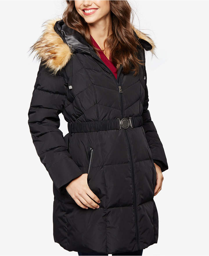 A Pea In The PodA Pea In The Pod Maternity Belted Quilted Puffer Coat