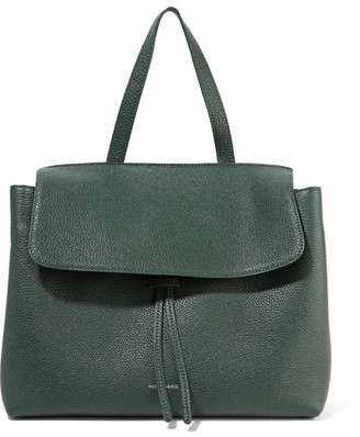 Mansur Gavriel - Lady Tumbled-leather Tote - Dark green $1,195 thestylecure.com