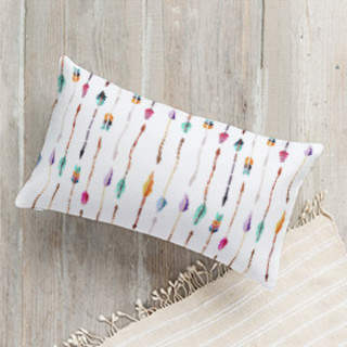 Arrow Play Lumbar Pillow
