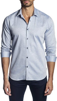 Jared Lang Men's Semi-Fitted Gingham Long-Sleeve Button-Down Shirt