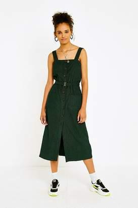 Urban Outfitters Cordelia Printed Corduroy Midi Dress