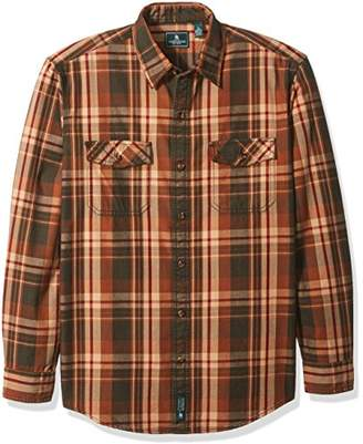 G.H. Bass & Co. Men's Mountain Twill Double Pocket Plaid Long Sleeve Shirt