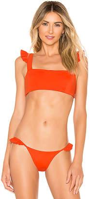 SKYE & staghorn Poppy Frill Crop Bikini Top