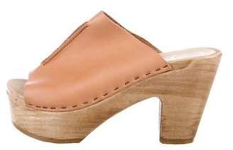 No.6 Leather Slide Sandals