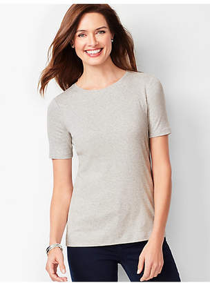 Talbots Heathered Crewneck Tee