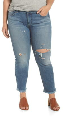 Lucky Brand Lolita Straight Fray Hem Jeans